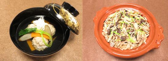 鰯のつみれ汁ときのこの土鍋ご飯