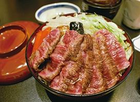 ステーキ丼(お味噌汁付き)